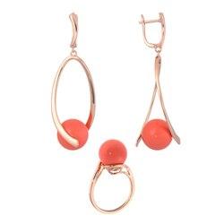 Модная бижутерия для женщин под золото и серебро.Комплекты QSY.Женские длинные серьги и кольцо с жемчугом.Серьги кольца.