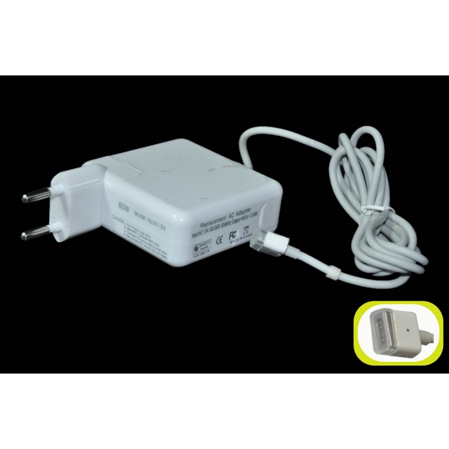 Charger 60W Magsafe For Laptop Apple Macbook(Compatible)