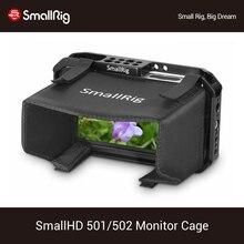 """Smallhd 501/502 per smallrig mantice monitor gabbia pittura """"parasole hood 2177 montato monitor di protezione gabbia"""