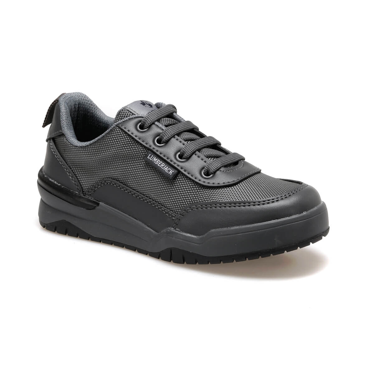 FLO MASCOT 9PR Dark Gray Male Child Sneaker Shoes LUMBERJACK