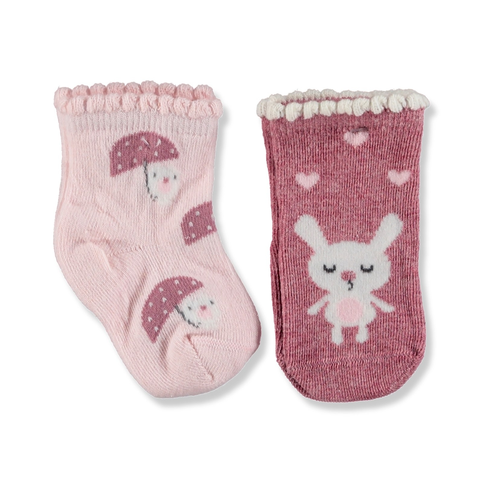 Ebebek Step 2 Pack Baby Socks Umbrella Rabbit