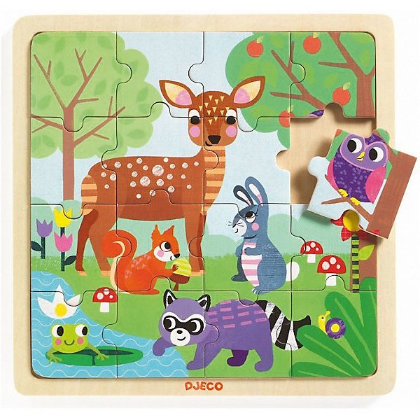 Wooden puzzle DJECO Summer in the forest wooden puzzle djeco autumn in the woods