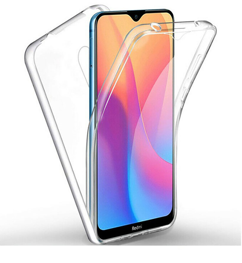 Stand Case Double 360 ° For XIAOMI REDMI 8 Front + Back Clear