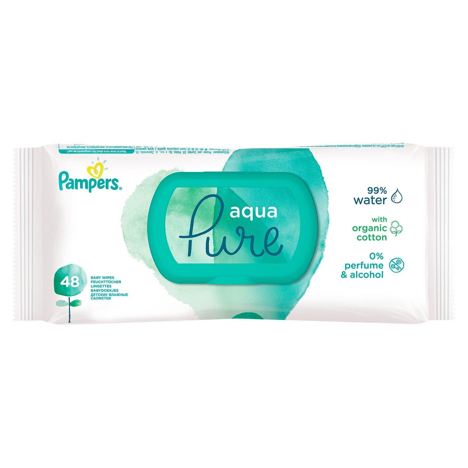 Ebebek Prima Pampers Aqua Pure Wet Towel Single Pack 48 Pcs