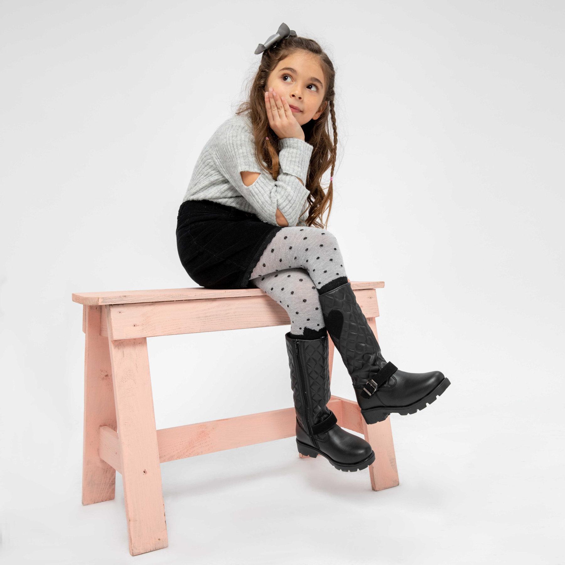 FLO SERIES Black Female Child Boots KINETIX