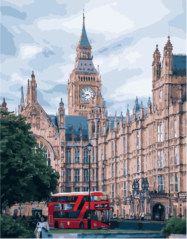 Painting By Numbers PK 49035 Majestic London 40*50