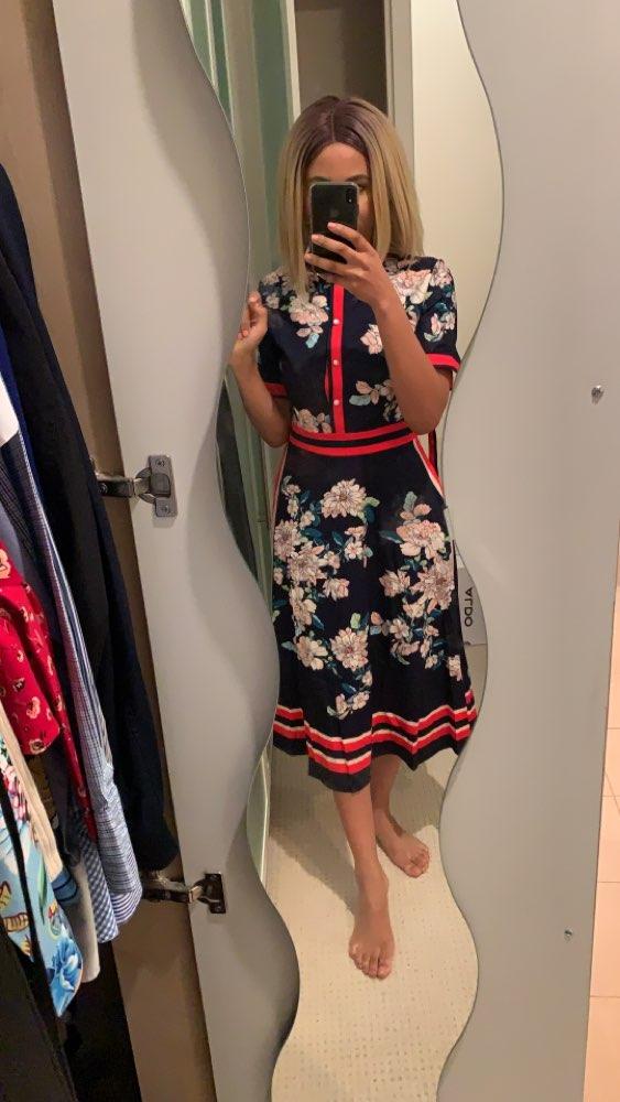 Designer Dresses Runway High Quality Autumn Casual Shirt Dress Women Bow Vintage Dress Vestidos Robe Femme photo review
