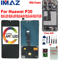 IMAZ AMOLED 6.1 For Huawei P30 LCD With Frame Touch Screen Huawei P30 ELE L29 ELE L09 ELE AL00 ELE L04 ELE TL00 Display Screen