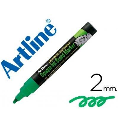 MARKER ARTLINE SLATE GREEN BLACK EPW-4 VE-GR COLOR GREEN FLUORESCENT BAG DE 4 MARKERS