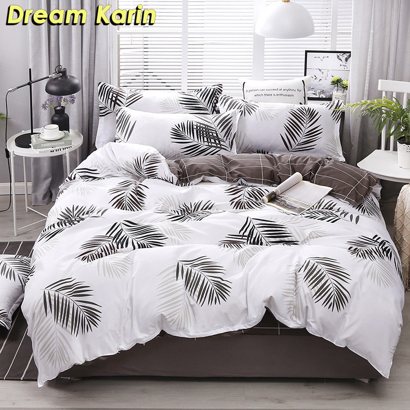 Brief Duvet Cover Sets Nordic Kids Bedding Set Bed Sheet Linens Single Double Queen King Size Bedclothes Modern Quilt Covers