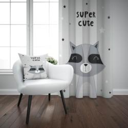 Else/супер милый серый, черный, с 3d принтом животных, для детей, для малышей, комплект оконных панелей, занавеска, комбинированный Подарочный ч...