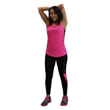 CAMISETA RUNNING IMPOSSIBLY RUNAWAY JIM MUJER - TALLA S - COLOR FUCSIA Y NEGRO