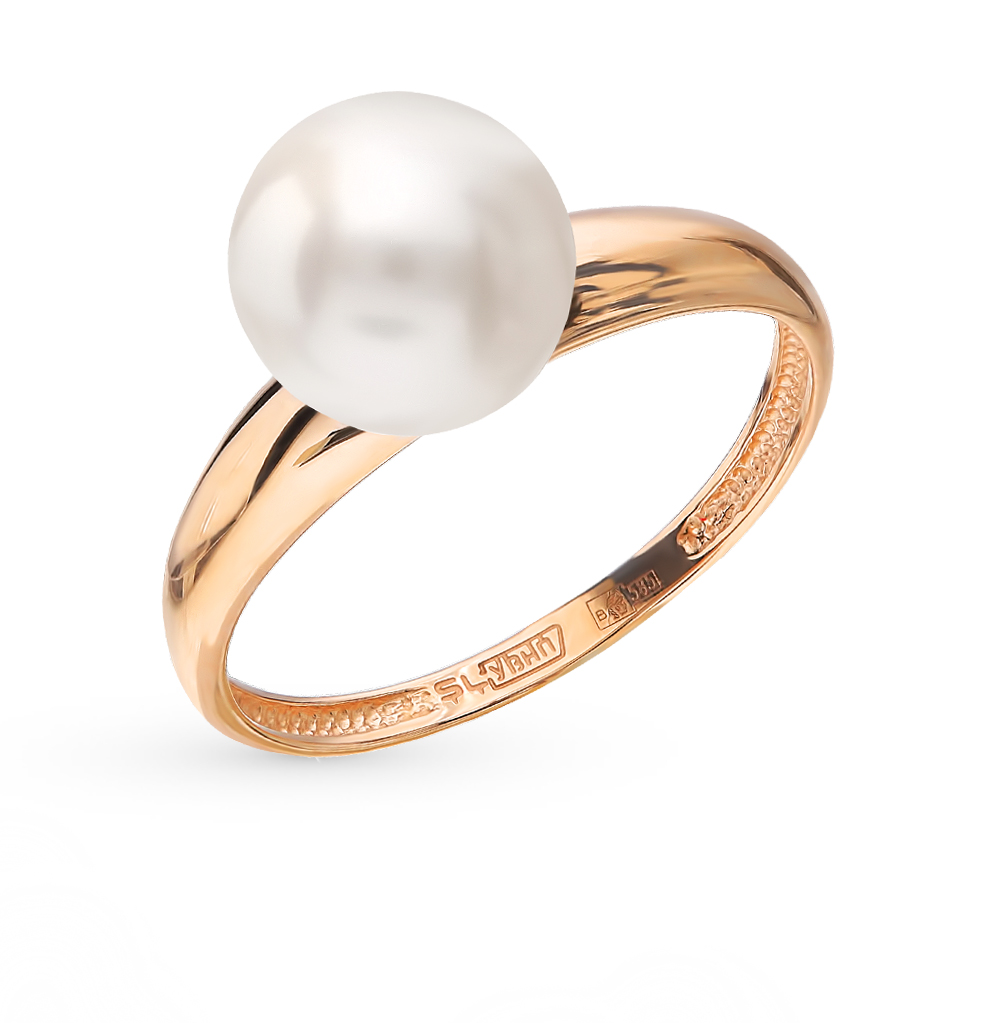 Gold Ring With Pearls SUNLIGHT Test 585
