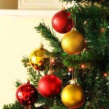 24pcs/box 3cm Christmas Tree Ball Baubles Xmas Party Wedding Hanging Ornament Decoration Supplies
