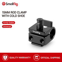 SmallRig Standard 15mm Rod Clamp with Hot Shoe Mount Used for Any Shoe Mount Style Accessories - 1597