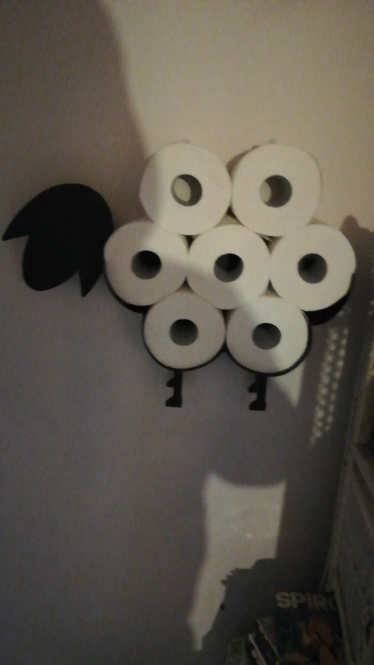 Funny Black Sheep Toilet Paper Roll Holder photo review