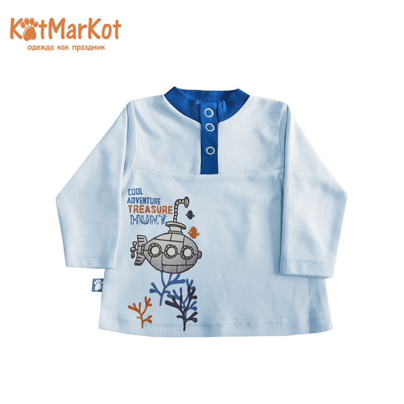Blouses & Shirts Kotmarkot 7999 pullover jumper for boys and girls jackets Cotton royal blue loose pullover raglan shoulder side split jumper