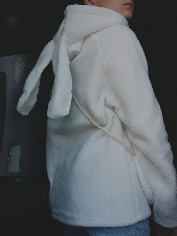 Bunny Hoody Women Cute Rabbit Ear Student Hoodie Long Sleeve Big Size Sweet warm coat Winter/Spring Fashion Streetwear Clothes photo review
