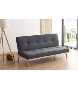 Sofa Bed click clack Fox model gray fabric.