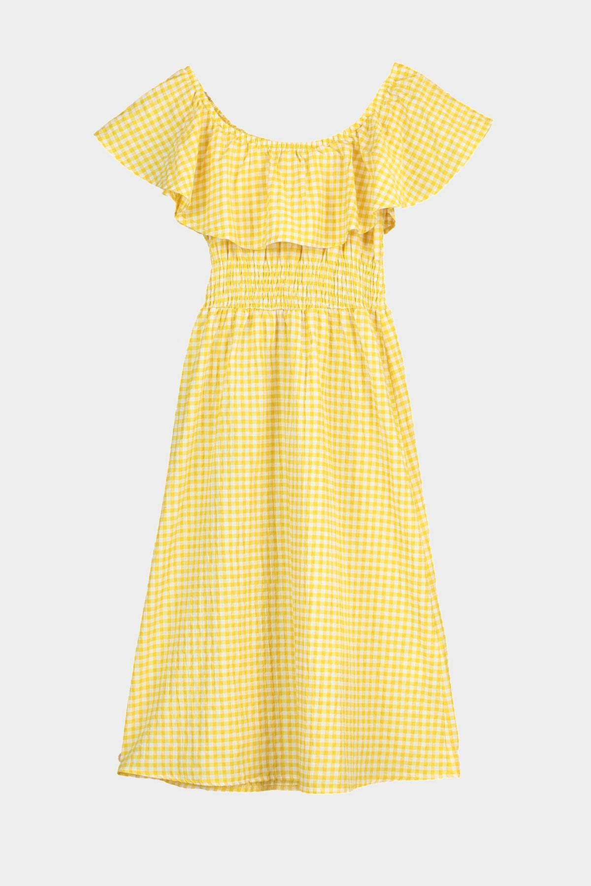 Trendyol Carmen Collar Frilly Dress TWOSS20EL3211