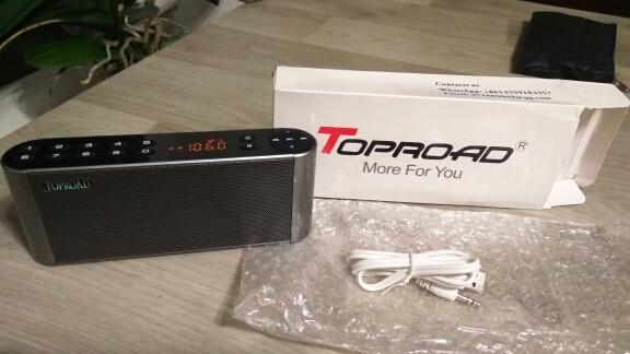 TOPROAD HIFI Bluetooth Speaker Portable Wireless Super Bass Dual Speakers Soundbar with Mic TF FM Radio USB Sound Box|speaker soundbar|hifi bluetooth speakerbluetooth speaker - AliExpress