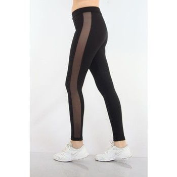 Almila 4034 Mesh Wide Side Tape Gauze Women S Leggings