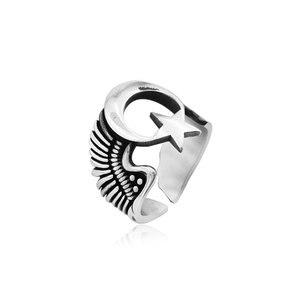 925 серебряные османские кольца для мужчин Луна Звезда воскресение Ertugrul кольцо кайи кольцо для мужчин