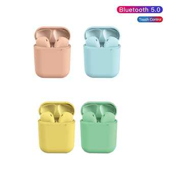 Bluetooth headset INPODS 12 wireless Macaron Universal Headphones with Microphone for All Phones compatible iphone samsung