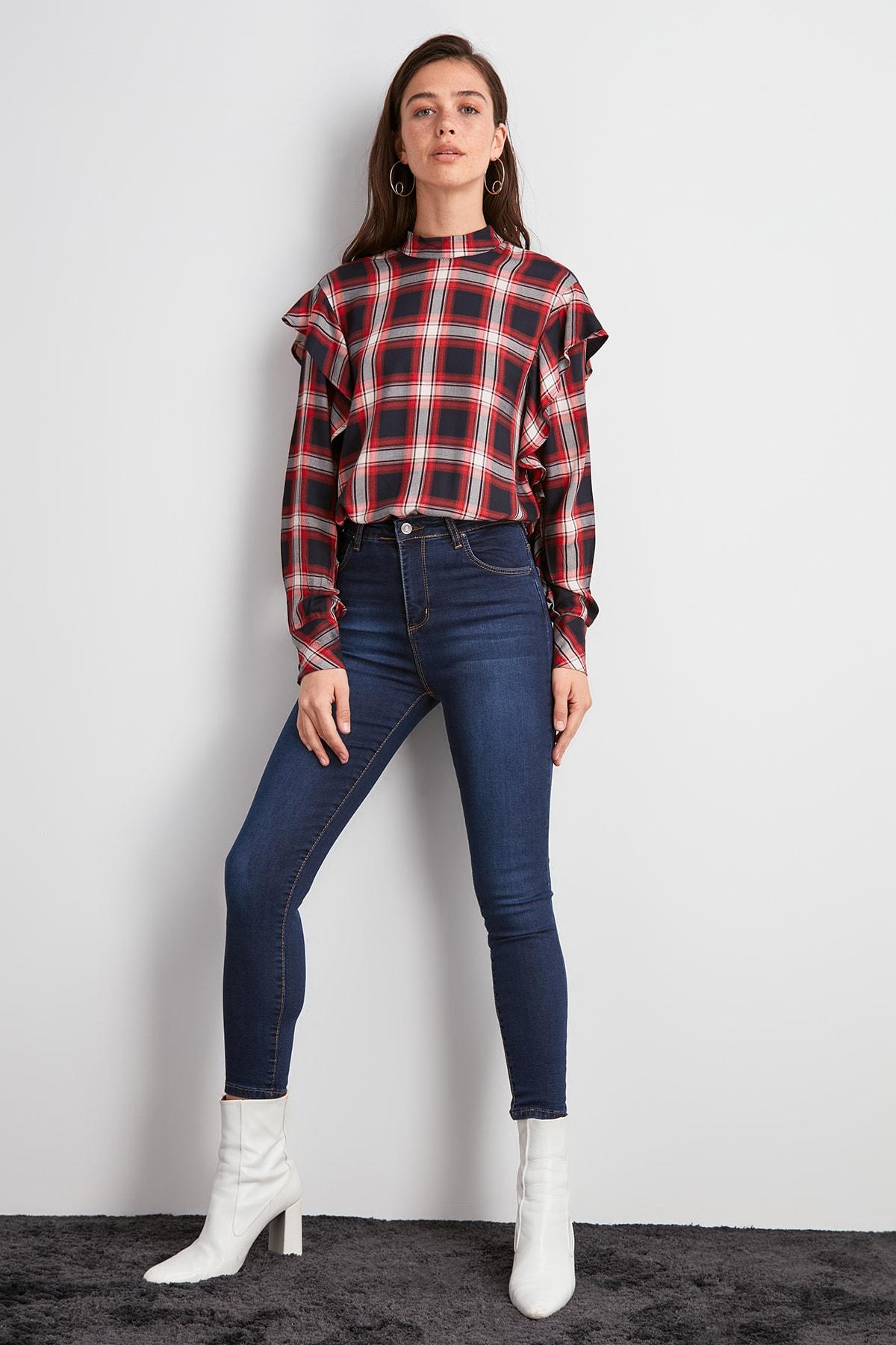 Trendyol High Waist Skinny Jeans TWOAW20JE0487