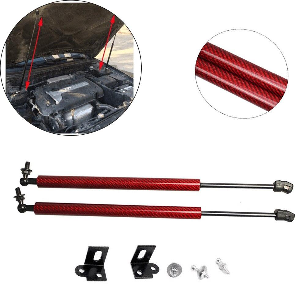 Para hyundai elantra xd série 2001-2006 estilo do carro frente capô fibra de carbono modificar suportes de gás elevador suporte amortecedor de choque