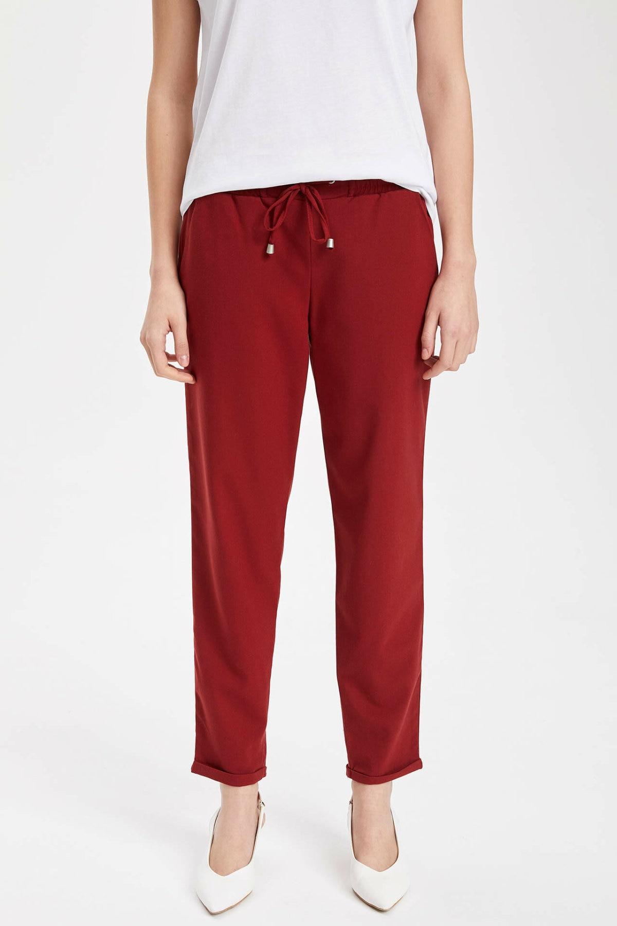 DeFacto Woman Fashion Sport Trousers Female Casual Drawstring Loose Pants Ladies Comfort Loose Sweatpants New - I4363AZ19SP