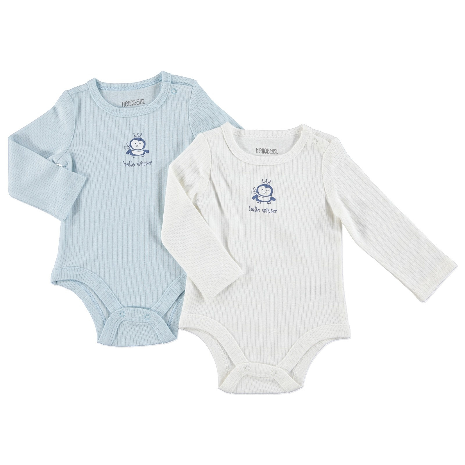 Ebebek HelloBaby Extra Soft Warm 2 Pack Thermal Bodysuit