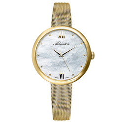 Women's watches on a steel bracelet with PVD coating with mineral glass sunlight