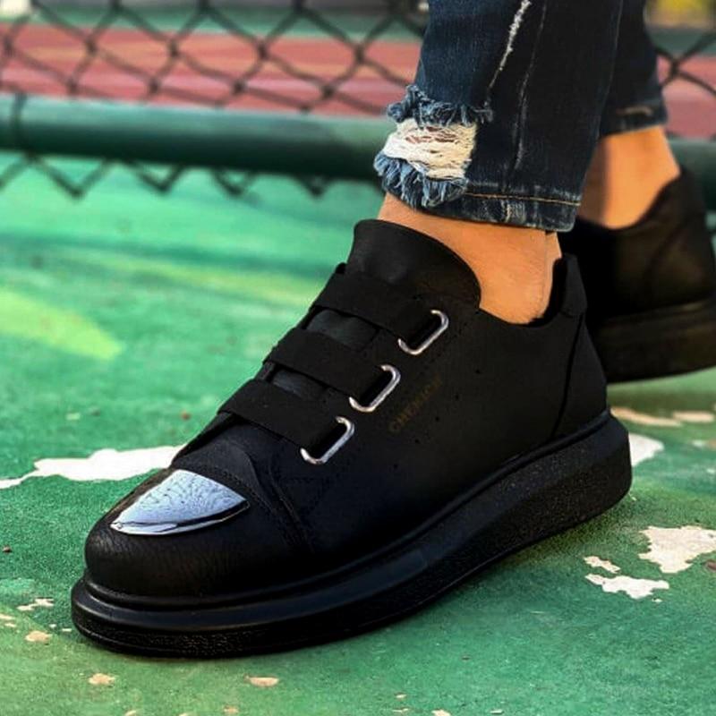 Chekich baskets pour hommes baskets confortable Flexible mode cuir mariage orthopédique marche chaussure Sport chaussures pour hommes confort unisexe léger léger chaussures de course décontractées respirant Zapatos Hombre CH251 - 2