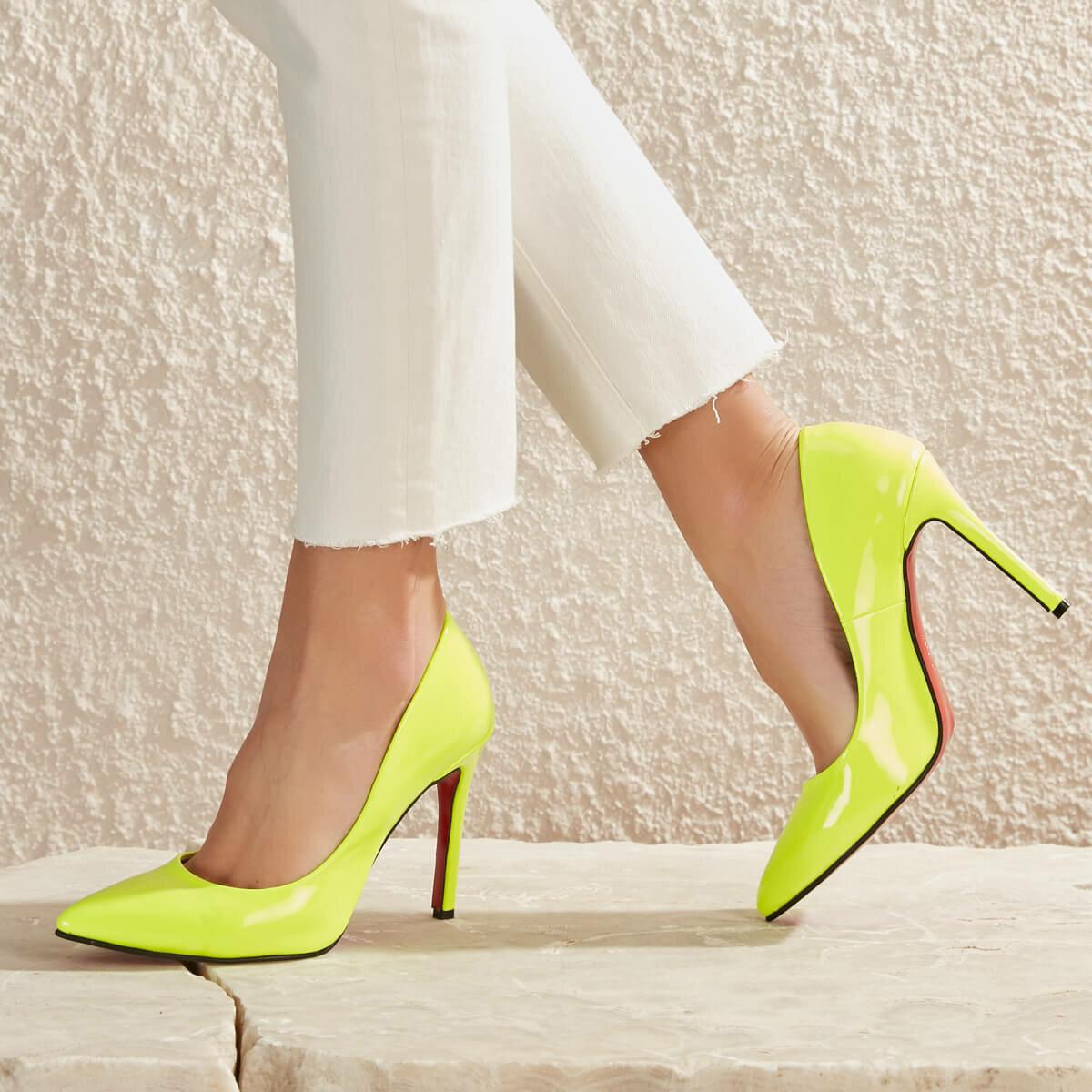 FLO LELA99Z SKIN Neon Yellow Women 'S Stiletto BUTIGO