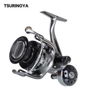 Tsurinoya carpa carretel de pesca urso marrom 3000 4000 5000 6000 7000 9 + 1 12-20kg carretel alimentador de metal completo roda de fiação de água salgada