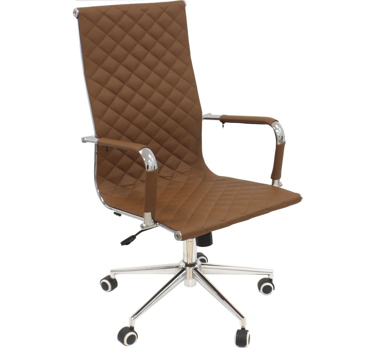 Office Armchair ZAGREB, High, Gas, Tilt, Similpiel Brown