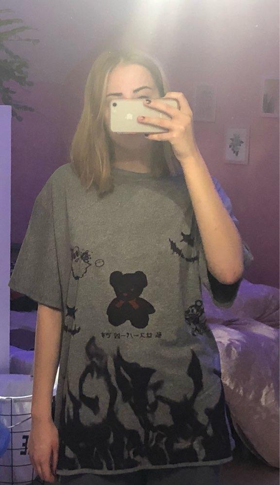 E-boy E-girl Harajuku streetwear loose T-Shirt photo review