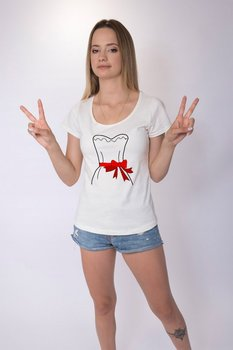 Angemiel Wear Dear The Boiler Lineal Wedding Dress Cotton White Lovers T-shirt image
