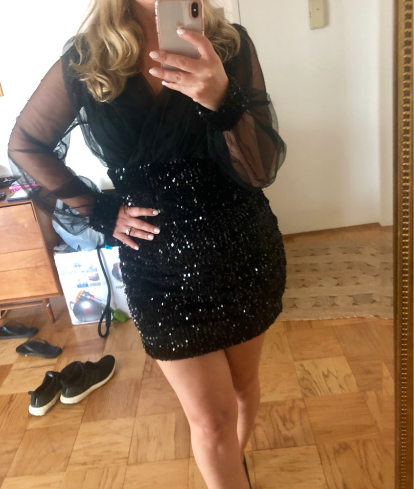 First Song Sequined Sexy Dress  Women'S Summer Dress Black Retro Elegant One Shoulder Dress One Word Shoulder Dress Long photo review