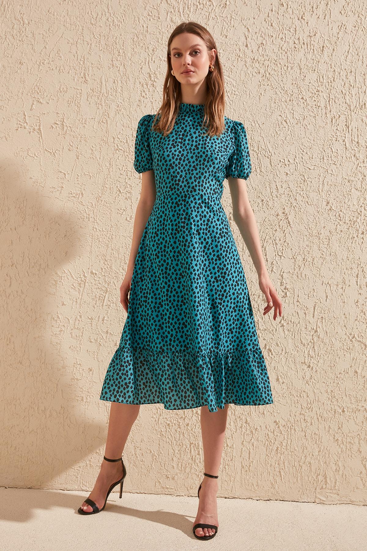 Trendyol Patterned Dress TWOSS20EL0894