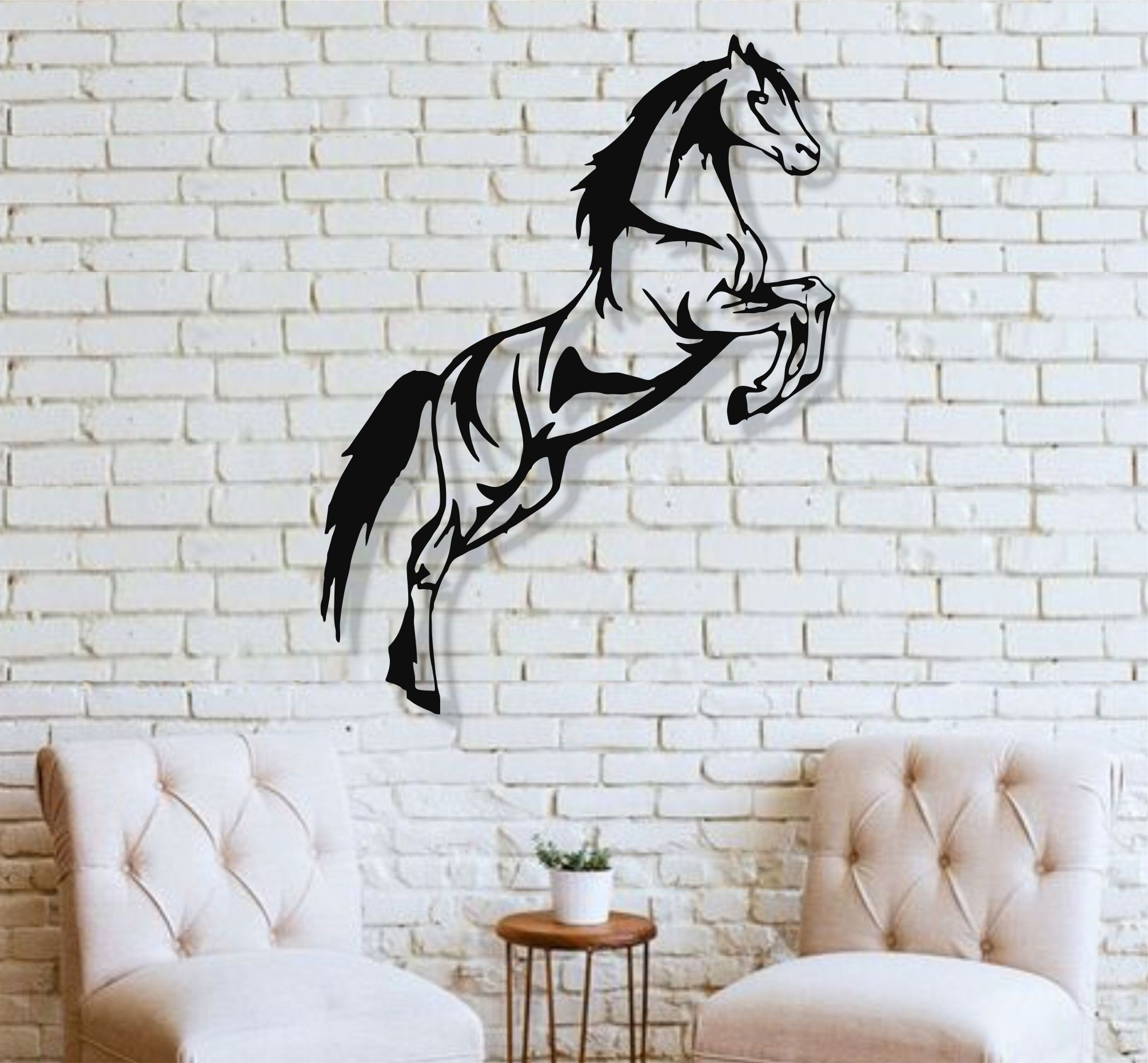 US $10.10 10% OFFMetal Wall Art, Metal Horse, Metal Wall Decor, Interior  Decoration, Living Room Decor, Metal Sign, Farm Decor, Metal Horse