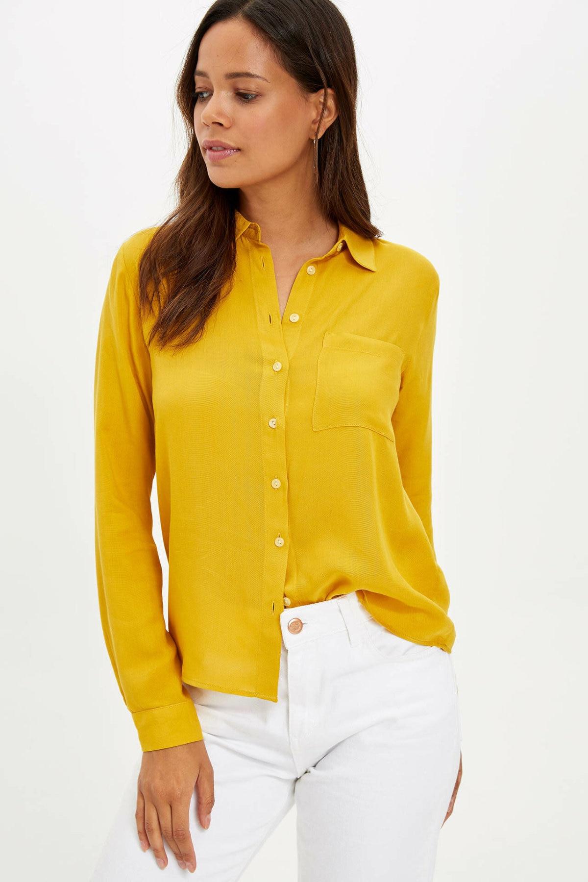 DeFacto Woman Long Sleeve Shirt-K5027AZ19AU
