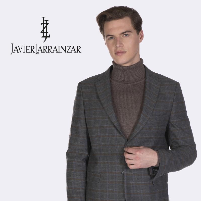 Javier Larrainzar-Blazer JL19020-Jacket's Men Elegant Grey Color Dark