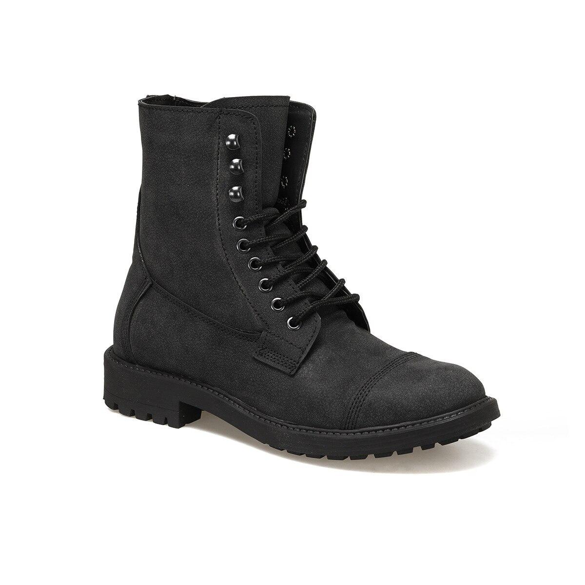 FLO EC-1009 Black Men Boots Forester