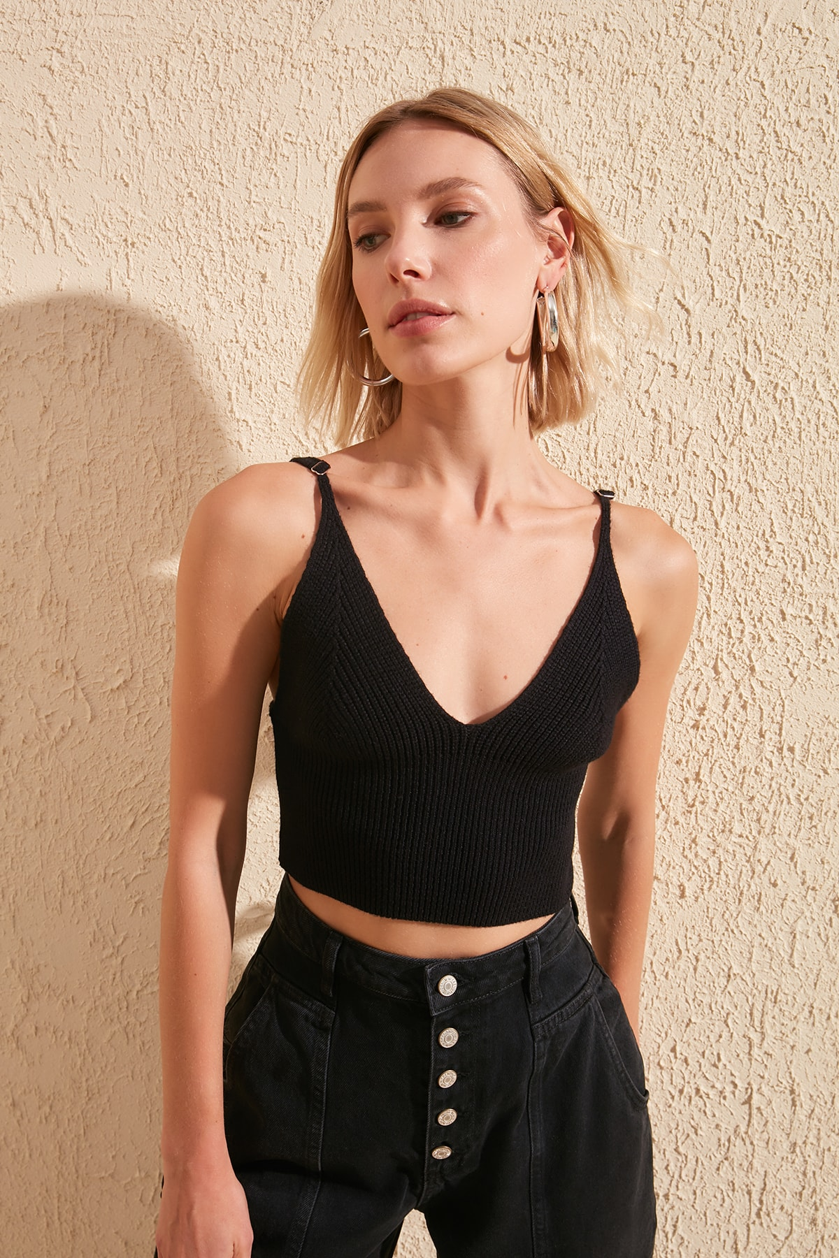 Trendyol Mesh Detailed Pendant Knitwear Bluz TWOSS20BZ0782