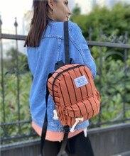 Basit tarzı bayanlar sırt çizgili çantası, hırsızlık Oxford kumaş branda dikiş sequins çocuk kolej sırt çantası bayan