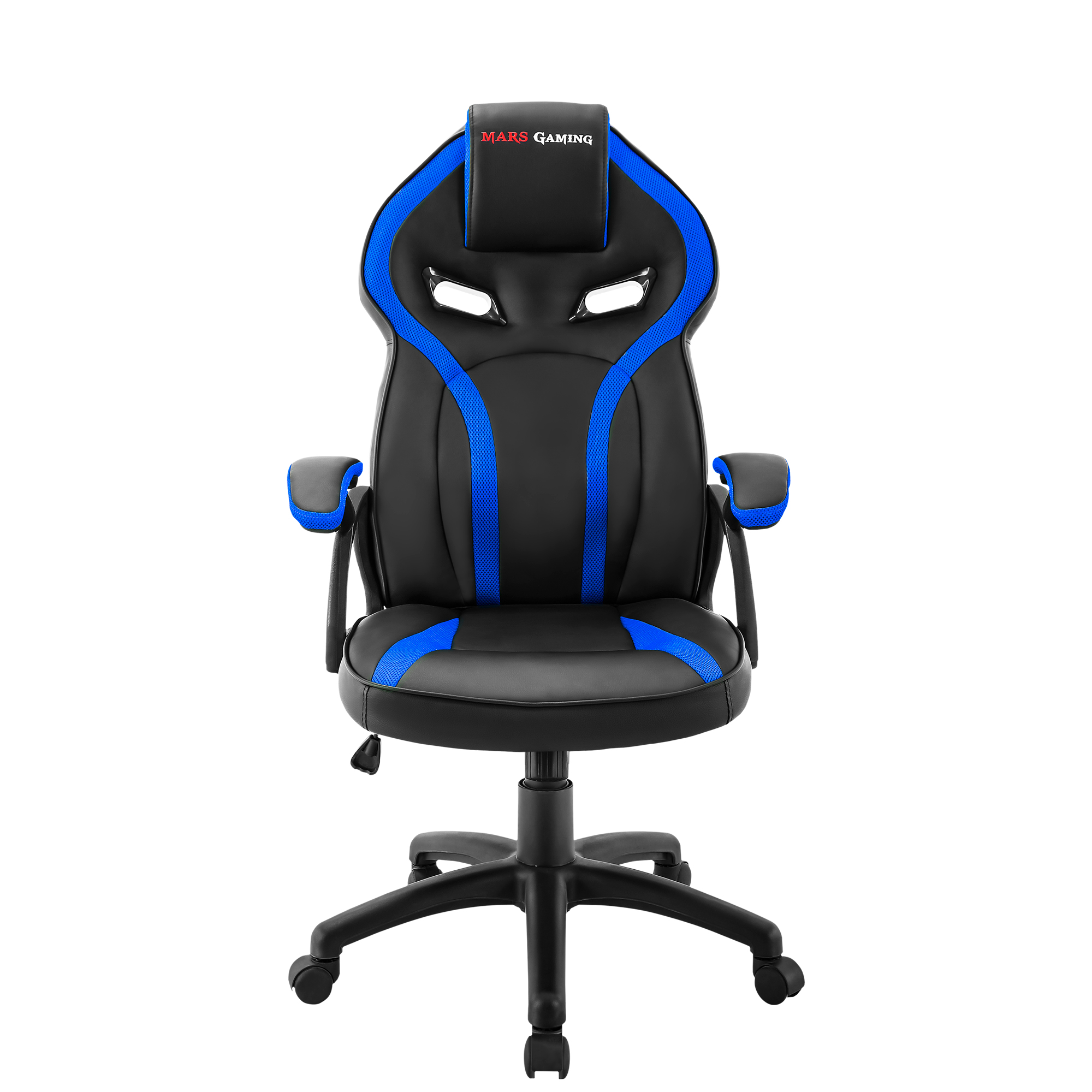 Mars Gaming MGC118, Chair Gaming Ergonomic, Dimmable, PU Coating, Blue