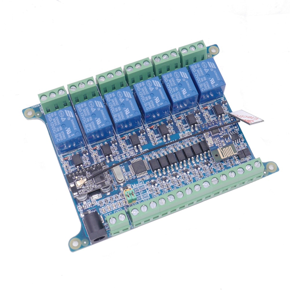Taidacent 6 Way 8 Inputs WIFI 2.4G Wireless Communication RS485 Relay Controller RF Sensing Relay MODBUS RTU RS485 Relay Module