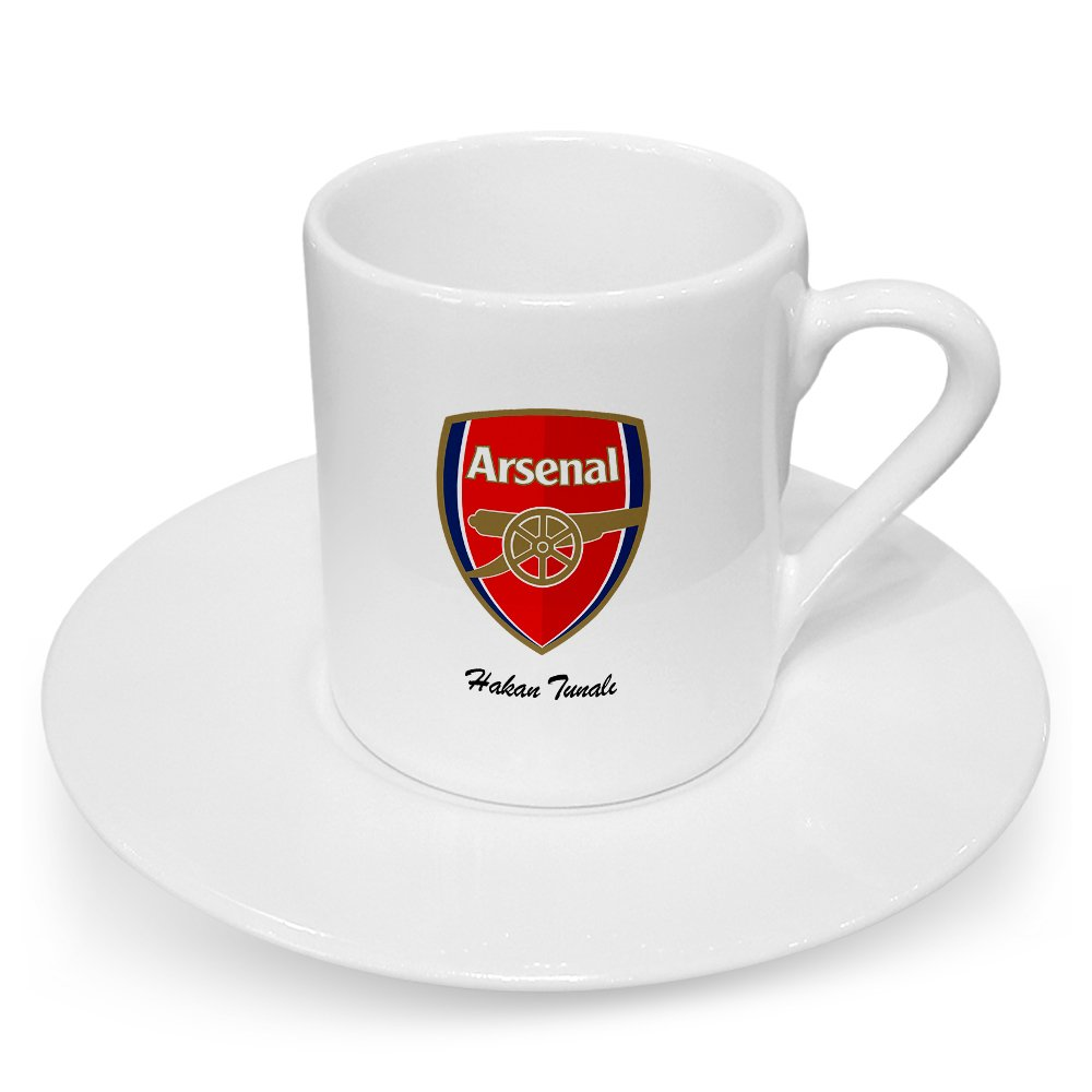 Personalized <font><b>Arsenal</b></font> Turkish coffee <font><b>Cup</b></font> image